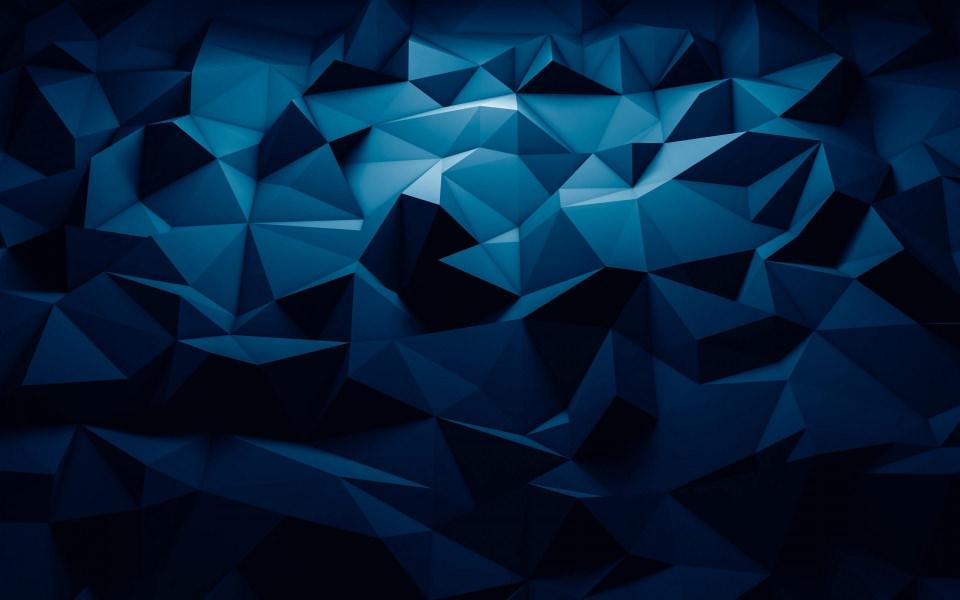 Download 3D Blue Polygon Pattern Wallpaper - GetWalls.io