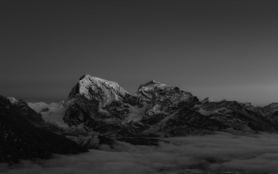 Download Black And White Himalaya Sunset Wallpaper Getwalls Io