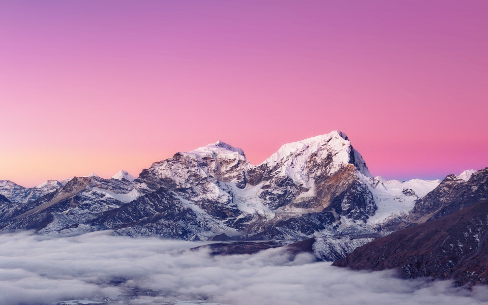 pink snow mountain wallpaper - photo #4