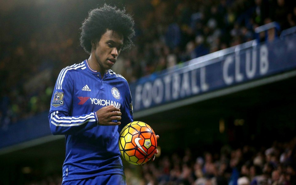 Download Chelsea Willian With Ball Wallpapers Players