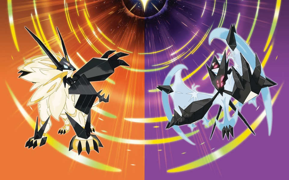 Lunala and Solgaleo Pokemon Wallpaper