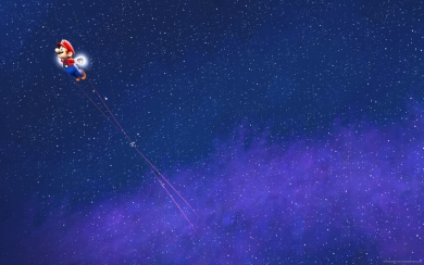 super mario galaxy in space for 2560x1440 95920563